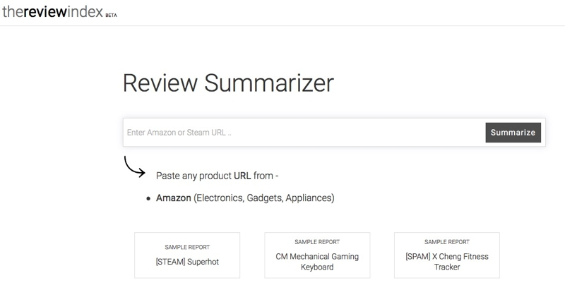The Review Index: una web que resume opiniones de Amazon