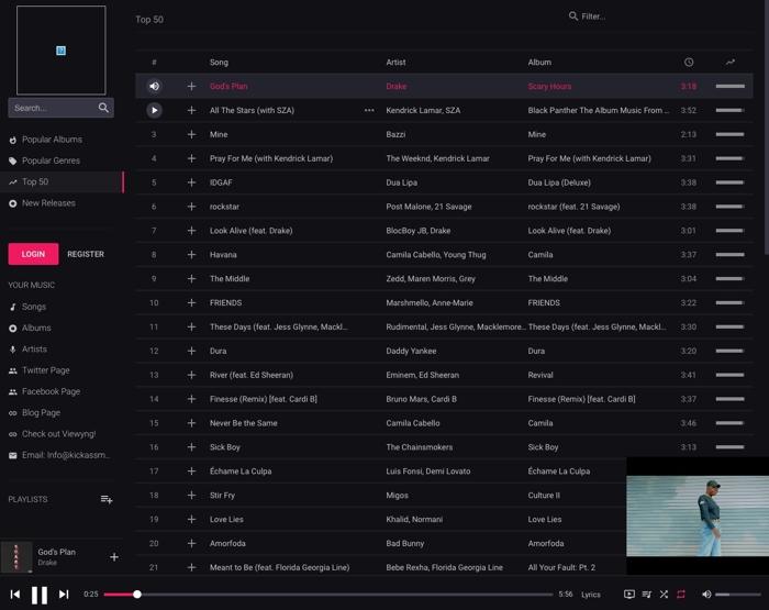 Escucha música online gratis con Kickass Music