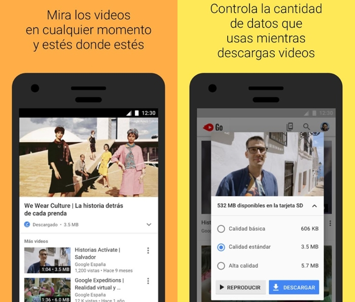 "YouTube Go, la versión ""light"" de YouTube, disponible en 130 países"