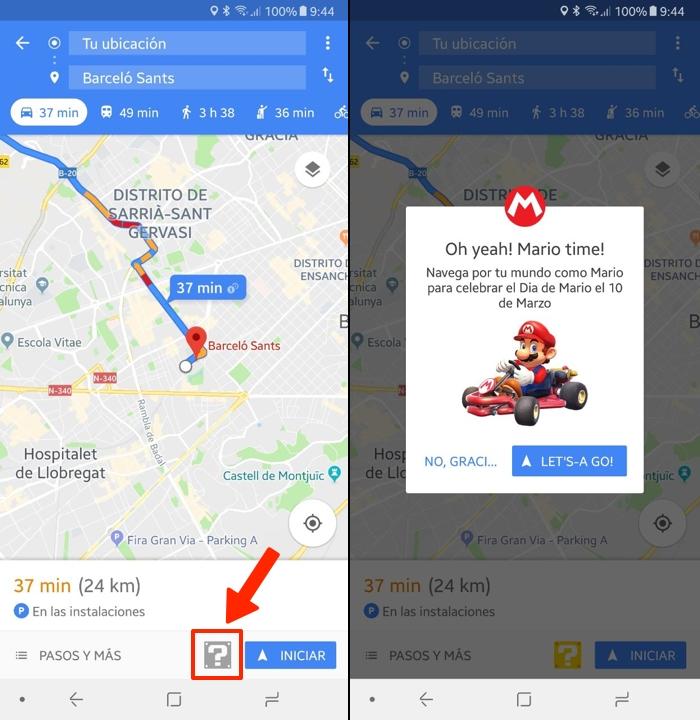 Celebra el Día de Mario en Google Maps