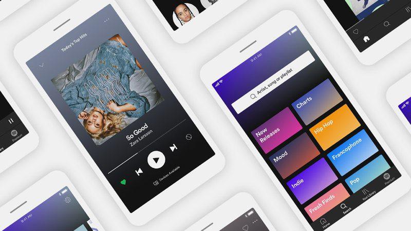 Nuevas opciones para Spotify gratis en la app de móvil