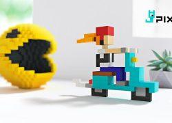 Pixio, un juego de construcción magnético con píxeles «reales»