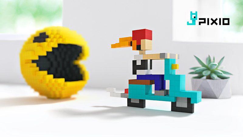 """Pixio, un juego de construcción magnético con píxeles """"reales"""""""