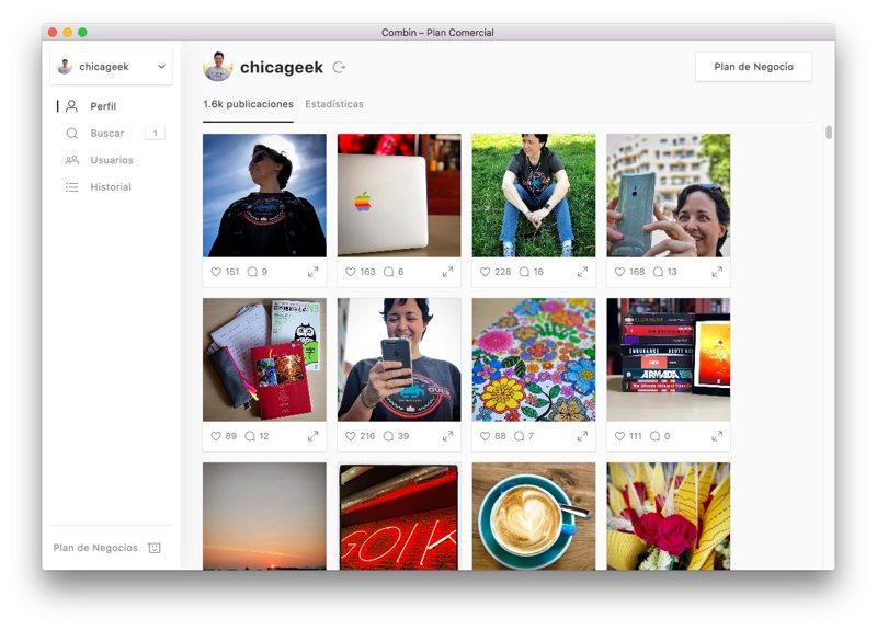 Combin: gestiona tu perfil de Instagram y hazlo crecer fácilmente