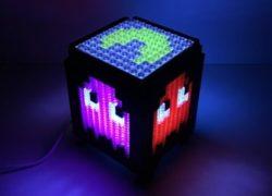 Lámparas retro artesanales hechas de LEGO