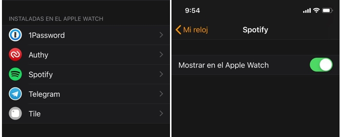 Spotify lanza una app para Apple Watch