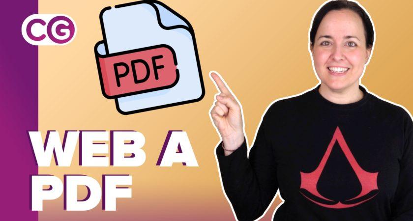 Cómo guardar una página web en formato PDF