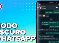 Ya puedes ver cómo es el modo oscuro en WhatsApp