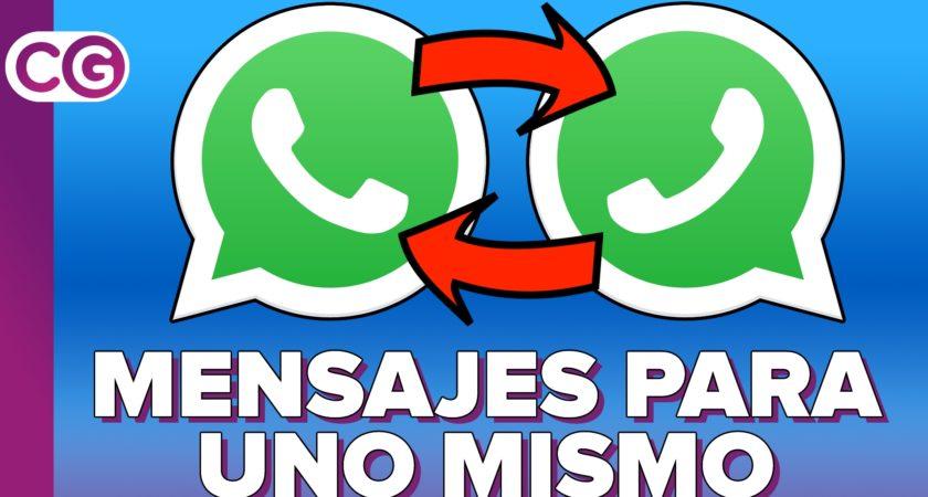 Tu WhatsApp personal: cómo enviarte cosas a ti mismo
